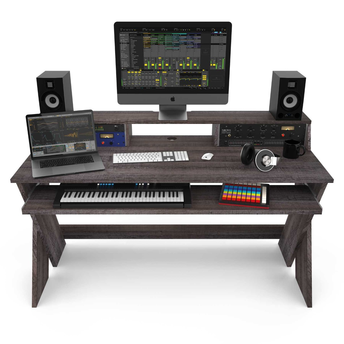 Glorious Sound Desk Pro Walnut Furniture For Djs Producers And